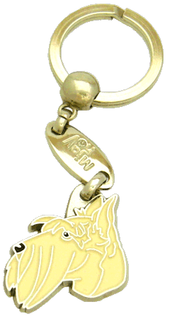 SCOTTISH TERRIER CREAM - pet ID tag, dog ID tags, pet tags, personalized pet tags MjavHov - engraved pet tags online